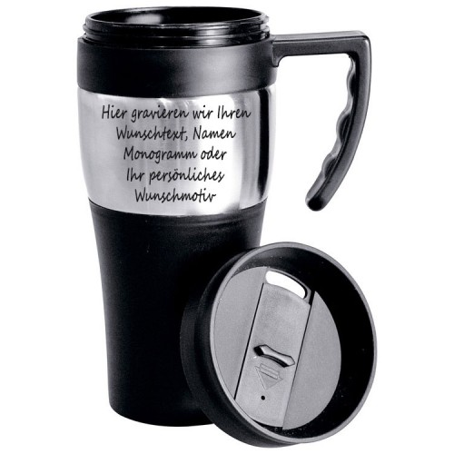 thermobecher kaffeebecher isolierbecher wahlweise mit gravur ebay. Black Bedroom Furniture Sets. Home Design Ideas